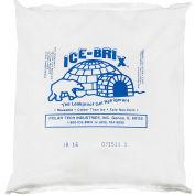 "Ice-Brix™ Cold Packs, 16 Oz., 6-1/4""L x 6""W x 1""H, White/Blue, 36/Pack"