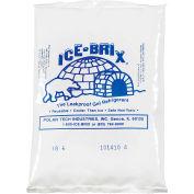 "Ice-Brix™ Cold Packs, 6 Oz., 6""L x 4""W x 3/4""H, White/Blue, 96/Pack"