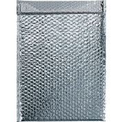 """Cool Shield Thermal Bubble Mailers 12-3/4"""" x 10-1/2"""" Silver, 50 Pack"""