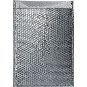 "Cool Shield Thermal Bubble Mailers 12"" x 17"" Silver, 50 Pack"