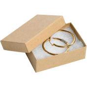 "Kraft Jewelry Boxes 3-1/16"" x 2 1/8"" x 1"" - 100 Pack"