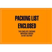 "Full Face Envelopes - ""Packing List Enclosed"" 4-1/2 x 6-1/2"" Orange - 1000/Case"