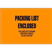 "Full Face Envelopes - ""Packing List Enclosed"" 4-1/2 x 6-1/2"" Orange - 1000/Case"