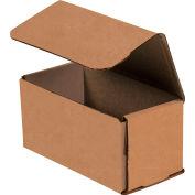 "Corrugated Mailers 4"" x 3"" x 2"" 200#/ECT-32 Kraft - Pkg Qty 50"