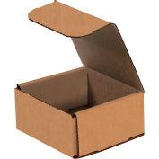 "Corrugated Mailers 4"" x 4"" x 1"" 200#/ECT-32 Kraft - Pkg Qty 50"