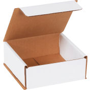 "Corrugated Mailers 5"" x 5"" x 2"" 200#/ECT-32 White - Pkg Qty 50"
