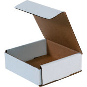 "Corrugated Mailers 6"" x 6"" x 2"" 200#/ECT-32 White - Pkg Qty 50"