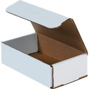 "Corrugated Mailers 7"" x 4"" x 2"" 200#/ECT-32 White - Pkg Qty 50"