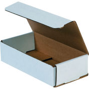 """Corrugated Mailers 8"""" x 4"""" x 2"""" 200#/ECT-32 White - Pkg Qty 50"""
