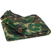 """Camouflage Moving Blankets 72"""" x 80"""", 6 Pack"""