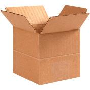 "Multi-Depth Cardboard Corrugated Boxes 4"" x 4"" x 4"" 200#/ECT-32 - Pkg Qty 25"