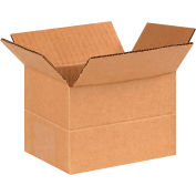"Multi-Depth Cardboard Corrugated Boxes 6"" x 4"" x 4"" 200#/ECT-32 - Pkg Qty 25"
