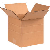 "Multi-Depth Cardboard Corrugated Boxes 8"" x 8"" x 8"" 200#/ECT-32 - Pkg Qty 25"