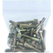 """Reclosable Poly Bags 4"""" x 4"""" 8 Mil Clear 1,000 Pack"""