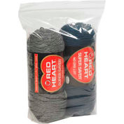 """Gusseted Reclosable Poly Bags 9"""" x 2"""" x 12"""" 2 Mil Clear 1,000 Pack"""