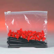 """Slide-Seal Reclosable Poly Bags 10"""" x 13"""" 3 Mil Clear 100 Pack"""