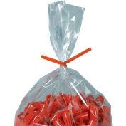 """Paper Twist Ties 9"""" x 5/32"""" Orange 2000 Pack"""