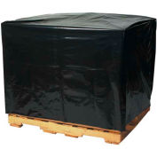 "Black Pallet Covers 54"" x 44"" x 76"" 2 Mil 50 Pack"