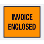 "Full Face Envelopes - ""Invoice Enclosed"" 4-1/2 x 5-1/2"" Orange - 1000/Case"