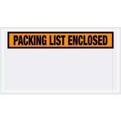 "Panel Face Envelopes - ""Packing List Enclosed"" 5-1/2 x 10"" Orange, 1000/Case"