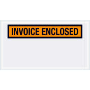"Panel Face Envelopes - ""Invoice Enclosed"" 5-1/2 x 10"" Orange - 1000/Case"