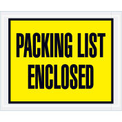 "Full Face Envelopes - ""Packing List Enclosed"" 4-1/2 x 5-1/2"" Yellow - 1000/Case"