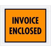 """Full Face Envelopes - """"Invoice Enclosed"""" 7 x 5-1/2"""" Orange - 1000/Case"""