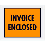 "Full Face Envelopes - ""Invoice Enclosed"" 7 x 5-1/2"" Orange - 1000/Case"