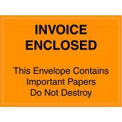 "Full Face Envelopes - ""Important Papers Enclosed"" 4-1/2 x 6"" Orange - 1000/Case"