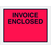 """Full Face Envelopes - """"Invoice Enclosed"""" 4-1/2 x 6"""" Red - 1000/Case"""