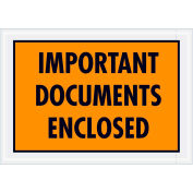 "Full Face Envelopes - ""Important Documents Enclosed"" 5-1/4 x 7-1/2"" Orange - 1000/Case"