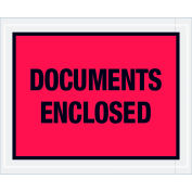 """Full Face Envelopes - """"Documents Enclosed"""" 4-1/2 x 5-1/2"""" Red - 1000/Case"""