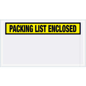 "Panel Face Envelopes - ""Packing List Enclosed"" 5-1/2 x 10"" Yellow, 1000/Case"