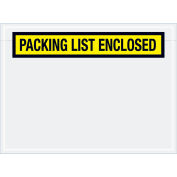 "Panel Face Envelopes - ""Packing List Enclosed"" 6-3/4 x 5"" Yellow, 1000/Case"