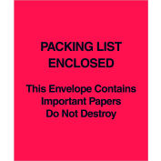 """Full Paper Face Envelopes - """"This Envelope Contains..."""" 5 x 6"""" Red - 1000/Case"""