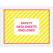 """SDS Envelopes, """"Safety Data Sheet Enclosed"""" Print, 6""""L x 4-1/2""""W, Yellow/Red, 1000/Pack"""