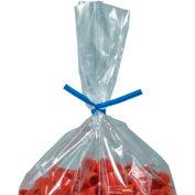 """Plastic Twist Ties 6"""" x 5/32"""" Blue 2000 Pack"""