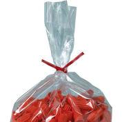 """Plastic Twist Ties, 6""""L x 5/32""""W, Red, 2000 Pack"""