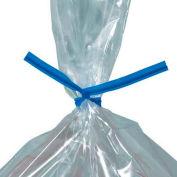 """Plastic Twist Ties, 7""""L x 5/32""""W, Blue, 2000 Pack"""