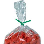 """Plastic Twist Ties, 9""""L x 5/32""""W, Green, 2000 Pack"""