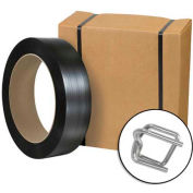 """Poly Strapping Kit 1/2"""" x 3,000' Coil With Tensioner, Cutter & 300 Buckles"""