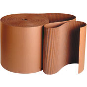 "Singleface Corrugated Roll, 6"" x 250', A Flute, Kraft, 1 Roll"