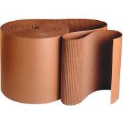 "Singleface Corrugated Roll, 9"" x 250', A Flute, Kraft, 1 Roll"