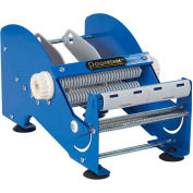 """Manual Tabletop Multi Roll Dispenser for Up To 6"""" Width Labels, Blue"""