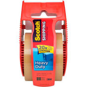 "3M 143 Carton Sealing Tape 2"" x 22.2 Yds 3.1 Mil Tan  - Pkg Qty 6"