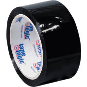 "Carton Sealing Tape 2"" x 55 Yds 2.2 Mil Black - Pkg Qty 18"