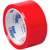 "Carton Sealing Tape 4"" x 6-1/2"" 2.2 Mil Red - Pkg Qty 18"