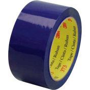 "3M 373 Carton Sealing Tape 2"" x 55 Yds 2.5 Mil Blue  - Pkg Qty 6"