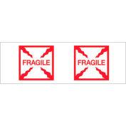 """Tape Logic® Printed Carton Sealing Tape """"Fragile (Box)"""" 2"""" x 55 Yds. 2.2 Mil Red/White - Pkg Qty 6"""