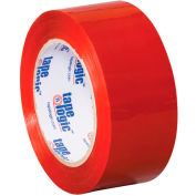 "Carton Sealing Tape 2"" x 55 Yds 2.2 Mil Red - Pkg Qty 18"